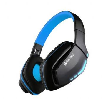 Sandberg Blue Storm Bluetooth Headset, Microphone, 40mm Driver